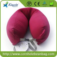 Cheap U shape printed micro beads travel pillow for sale