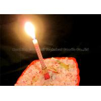 Quality White Dots Printing Musical Cake Candles Happy Birthday Song Gift Present 1pcs wholesale