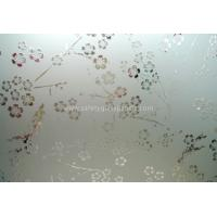 Cheap Clear Float Curve Acid Etched Glass 4mm 5mm 6mm For Curtain Walls And Bathroom for sale