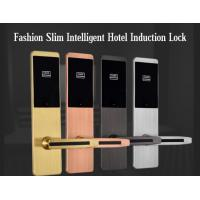 Cheap Ultra Thin RFID Hotel Door Locks , Zinc Alloy Material IC Card Induction Lock for sale