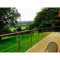 Cheap Outdoor balcony stainless steel glass railing / glass balustrade design for sale