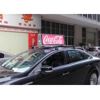 Cheap IP65 Outdoor Mobile LED Screen Taxi Top Advertising Signs 5500 nits Brightness for sale