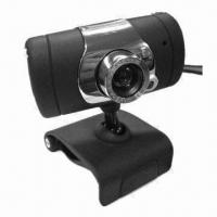 Cheap USB Webcam with Five Optical Coating Glass Lens, Built-in Mic and High Speed USB 2.0 for sale