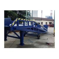 Cheap 8 ton Hydraulic movable loading forklift container ramp with supporting legs with handle pump for sale