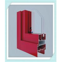 Quality Anodized Flat Open Window Aluminum Profile For Glass Wall Red Color ISO Certification wholesale
