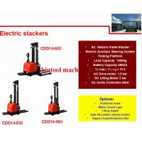 Quality 1400kg Electric Pallet Stacker 600mm Load Center With 1325mm Wheel Base wholesale