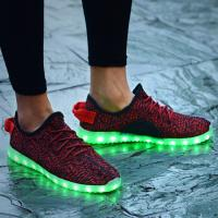 Cheap Top Selling Yeezy LED Casual Shoes Light Up Shoes for Women 2016 for sale