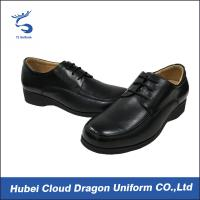 Black Real Leather Security Officer Shoes Security Work