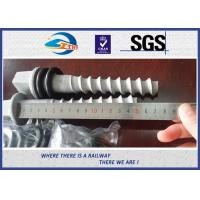 Cheap Q235 35# 45# Railway Sleeper Screws , HDG Coating Screw Spike for sale