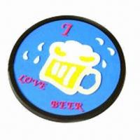 Cheap Soft PVC Coaster with 9cm Diameter for sale