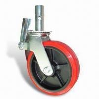 Cheap Scaffolding Caster, Caster with Steel Roller Bearing, Customized Designs are Welcome for sale