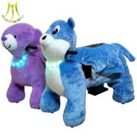 China Hansel plush light walking animal scooter and stuffed animals ride for mall with amusement kids animal scooter on sale
