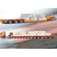 Cheap Low Bed hydraulic axle trailer  Transport Modular Trailer Diesel Engine for sale
