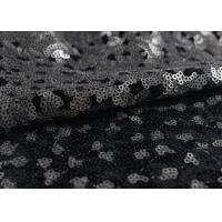 Cheap Golden Black Sequin Lace Fabric With 3D Embroidery Fabric For Party Gown Dresses for sale