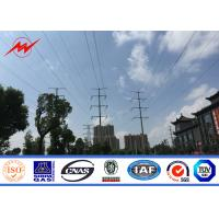 Cheap 8M 3mm Electric Power Pole Q345 Material with Bitumen for 69KV Transmission for sale
