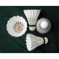 China goose feather badminton shuttlecock for Competition on sale