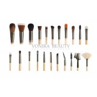 Cheap Custom 22 Piece Full Set Private Label Makeup Brushes Wood Handle For Face , Eyes And Lip for sale
