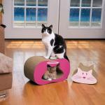 Cheap Catnip Inside Cat Cardboard ScratcherAbrasion Resistance With Activity Turnel for sale