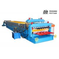 China 1100 Glazed Tile Double Layer Roll Forming Machine For Building Material on sale