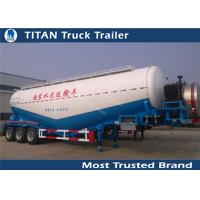 Cheap Stainless Steel / Aluminum 40cbm - 70cbm Tri axle cement tank trailer with 2 tool boxes for sale