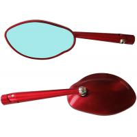 Buy cheap Red / Black CNC Motorcycle Rearview Mirror High Density Aluminum Alloy Material from wholesalers