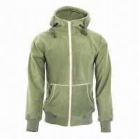 Cheap Men's and Ladies' Fashionable Fleece Black/Army Green Lifestyle Jacket for sale