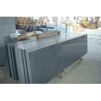China Natural Granite Stair Treads And Risers , Black Gray Granite Slabs For Stairs on sale