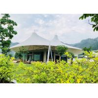 Cheap White Luxury Resort Tents , Double Pagoda UV Protection Fabric High Mountain Tent for sale