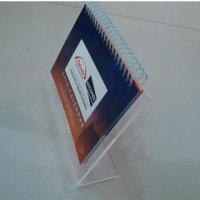 Cheap Creative table top calendar display, customized sizes are accepted, silkscreen-printed logo for sale