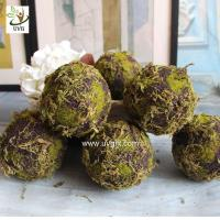 Cheap UVG arts and crafts artificial moss ball fake garden stone for wedding event decoration GRS043 for sale
