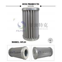 China Stainless Steel Mesh Gas In Air Filter , Pleated DN40 Natural Gas Line Filter  on sale