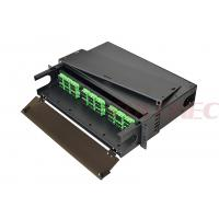 """Cheap 2RU 19"""" Quick Connection Rack Mount Fiber Enclosure For Data Centers , Backbone Cabling for sale"""