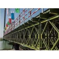 Temporary Steel Bridge Painted / Hot Dip Galvanized Prefabricated Foot Bridge