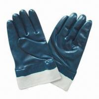 Cheap Nitrile Coated Safety Gloves for sale
