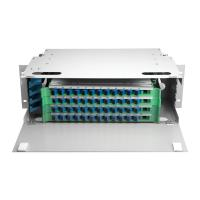 Cheap Outdoor 48 Port ODF Optical Distribution Frame IP66 Mild Steel Fiber Optic Patch Panel for sale