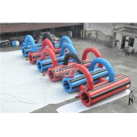Cheap Customzied Insane 5k Inflatable Run Obstacles For Adults , Event Giant Crawling Tunnel for sale