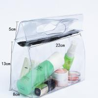 Cheap Transparent Travel Kit Makeup Organizer Pouch with Punching Holes Handles for sale