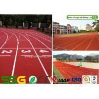 Buy cheap IAAF Certified Synthetic Rubber Running Track With Spray Coating System from wholesalers