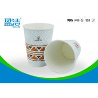 OEM / ODM 12 OZ Disposable Coffee Cups With Black Or White PS Lid Available