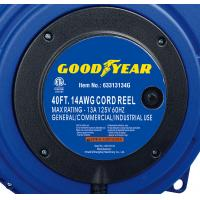 Cheap 40ft Triple Tap Heavy Duty Extension Cord Reel Goodyear Hose Reel With LED Lighted Connector wholesale
