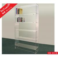 Cheap Detachable Study Room Acrylic Book Shelf Transparent Acrylic Sheet For Book Collection for sale