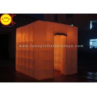 Cheap Colorful LED Cube Inflatable Advertising Portable Photo Booth for Outdoor for sale