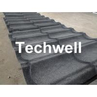 Cheap Sand Metal Stone Coated Roof Tile Machine , Steel Roof Tile Production Line for sale