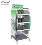 Cheap Customized Wine Display Stand Beverage Beer Display Rack Pop Merchandise Displays for sale