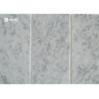 Cheap Carrara White Marble Stone Tile Thin Strip Cut To Size Corrosion Resistance for sale