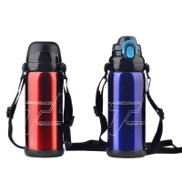 Cheap BSCI Double Wall SUS 201 Thermos Vacuum Insulated Bottle for sale