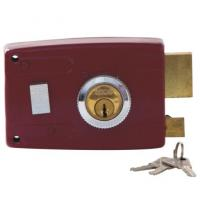 China Durable High Security Rim Lock Surface Mounted Rim Lock With Cylinder And Keys on sale