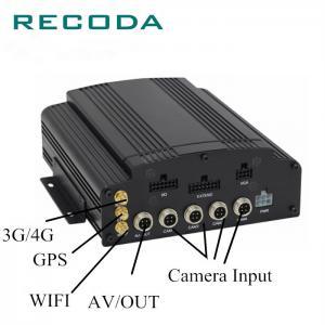 Cheap G Sensor Car Dvr Video Recorder 1080P 4Ch Hybrid Cameras HDD+ Dual SD Card for sale