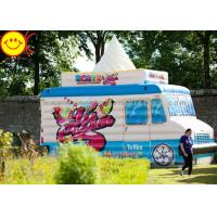 Quality Colorful Ice Cream Kids Jumper Inflatable Bouncers Cream Inflatable Combo Truck wholesale