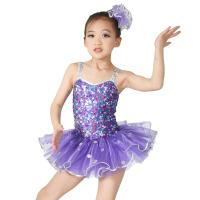 Cheap Sequins Hem Tires Dress Girls Dance Costume Dresses Holograms Sequins Sweetheart Top With Sequins Straps for sale
